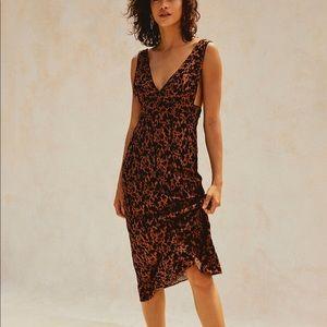 Free People Ohh La La Midi Dress Sz: 6 S Brown New